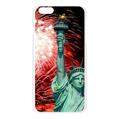 The Statue Of Liberty And 4th Of July Celebration Fireworks Apple Seamless iPhone 6 Plus/6S Plus Case (Transparent)