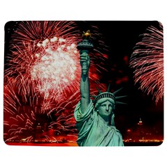 The Statue Of Liberty And 4th Of July Celebration Fireworks Jigsaw Puzzle Photo Stand (Rectangular)