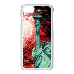 The Statue Of Liberty And 4th Of July Celebration Fireworks Apple Iphone 7 Seamless Case (white)