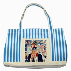 United States Of America Celebration Of Independence Day Uncle Sam Striped Blue Tote Bag