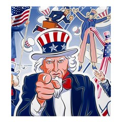 United States Of America Celebration Of Independence Day Uncle Sam Shower Curtain 66  X 72  (large)