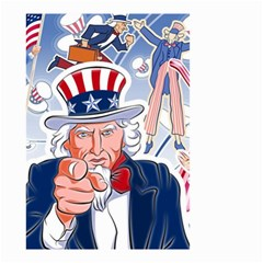 United States Of America Celebration Of Independence Day Uncle Sam Small Garden Flag (two Sides)