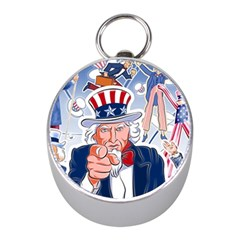 United States Of America Celebration Of Independence Day Uncle Sam Mini Silver Compasses
