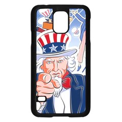 United States Of America Celebration Of Independence Day Uncle Sam Samsung Galaxy S5 Case (black)
