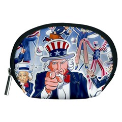 United States Of America Celebration Of Independence Day Uncle Sam Accessory Pouches (medium)