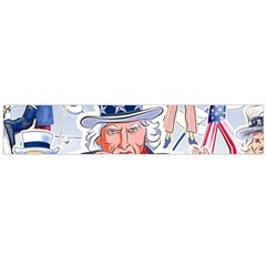 United States Of America Celebration Of Independence Day Uncle Sam Flano Scarf (large)