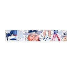 United States Of America Celebration Of Independence Day Uncle Sam Flano Scarf (Mini)