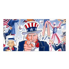 United States Of America Celebration Of Independence Day Uncle Sam Satin Shawl