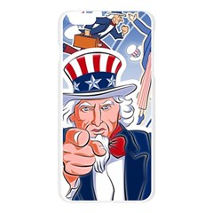 United States Of America Celebration Of Independence Day Uncle Sam Apple Seamless iPhone 6 Plus/6S Plus Case (Transparent)