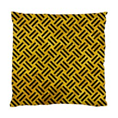 Woven2 Black Marble & Yellow Marble (r) Standard Cushion Case (two Sides)