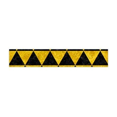 Triangle3 Black Marble & Yellow Marble Flano Scarf (mini)