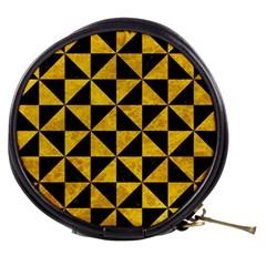 Triangle1 Black Marble & Yellow Marble Mini Makeup Bag