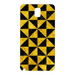 Triangle1 Black Marble & Yellow Marble Samsung Galaxy Note 3 N9005 Hardshell Back Case