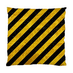 Stripes3 Black Marble & Yellow Marble Standard Cushion Case (two Sides)