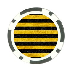 Stripes2 Black Marble & Yellow Marble Poker Chip Card Guard (10 Pack)