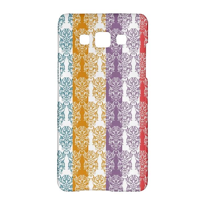 Digital Print Scrapbook Flower Leaf Color Green Red Purple Yellow Blue Pink Samsung Galaxy A5 Hardshell Case