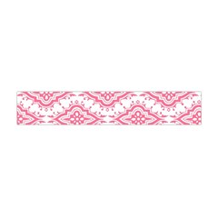 Flower Floral Pink Leafe Flano Scarf (Mini)