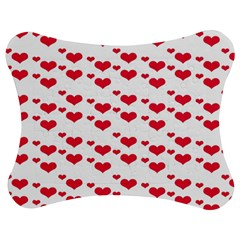 Heart Love Pink Valentine Day Jigsaw Puzzle Photo Stand (Bow)