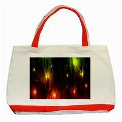 Fractal Manipulations Raw Flower Colored Classic Tote Bag (red)