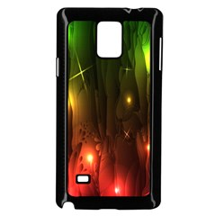 Fractal Manipulations Raw Flower Colored Samsung Galaxy Note 4 Case (black)