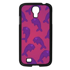Fluffy Stuffie Animals Purple Pink Samsung Galaxy S4 I9500/ I9505 Case (black)