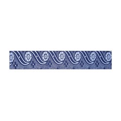 Flower Chevron Wave Blue Flano Scarf (Mini)