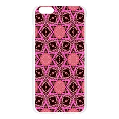 Background Colour Star Pink Flower Apple Seamless iPhone 6 Plus/6S Plus Case (Transparent)