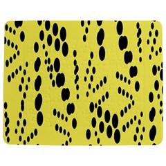 Circular Dot Selections Circle Yellow Jigsaw Puzzle Photo Stand (Rectangular)