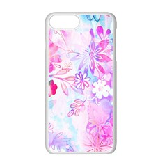 Watercolor Fairy Flowers Apple Iphone 7 Plus White Seamless Case
