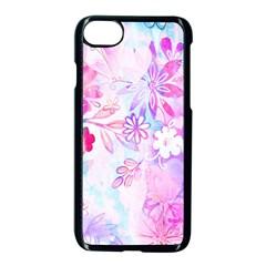Watercolor Fairy Flowers Apple Iphone 7 Seamless Case (black)