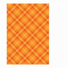 Clipart Orange Gingham Checkered Background Small Garden Flag (two Sides)