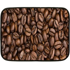 Coffee Beans Double Sided Fleece Blanket (mini)