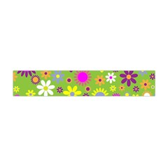 Colorful Floral Flower Flano Scarf (Mini)