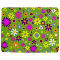 Colorful Floral Flower Jigsaw Puzzle Photo Stand (Rectangular)