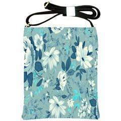 Floral Pattern Wallpaper Shoulder Sling Bags