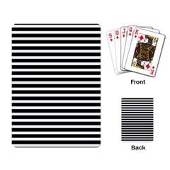 Horizontal Stripes Black Playing Card