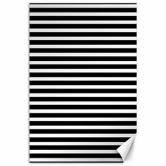 Horizontal Stripes Black Canvas 24  X 36