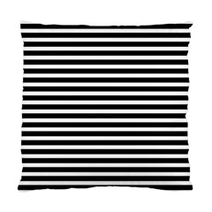 Horizontal Stripes Black Standard Cushion Case (one Side)