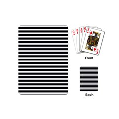 Horizontal Stripes Black Playing Cards (mini)