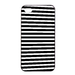 Horizontal Stripes Black Apple Iphone 4/4s Seamless Case (black)