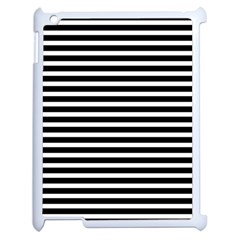 Horizontal Stripes Black Apple Ipad 2 Case (white)