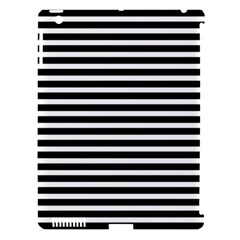 Horizontal Stripes Black Apple Ipad 3/4 Hardshell Case (compatible With Smart Cover)