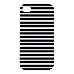 Horizontal Stripes Black Apple Iphone 4/4s Premium Hardshell Case