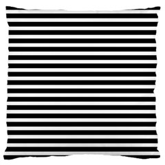 Horizontal Stripes Black Large Cushion Case (two Sides)
