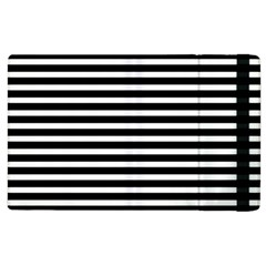 Horizontal Stripes Black Apple Ipad 2 Flip Case