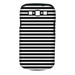 Horizontal Stripes Black Samsung Galaxy S Iii Classic Hardshell Case (pc+silicone)