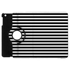 Horizontal Stripes Black Apple Ipad Mini Flip 360 Case