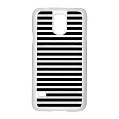 Horizontal Stripes Black Samsung Galaxy S5 Case (white)