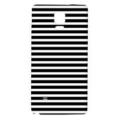 Horizontal Stripes Black Galaxy Note 4 Back Case