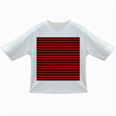 Horizontal Stripes Red Black Infant/toddler T Shirts
